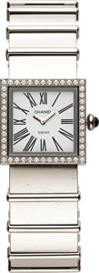 Estate Jewelry:Watches, Chanel Lady's Mademoiselle Diamond, Stainless Steel Wristwatch. ...