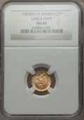 Mexico, Mexico: Republic gold Peso 1903 Mo-M MS65 NGC,...