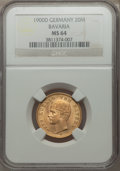 German States:Bavaria, German States: Bavaria. Otto gold 20 Mark 1900-D MS64 NGC,...