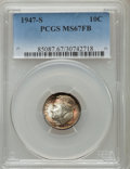 Roosevelt Dimes: , 1947-S 10C MS67 Full Bands PCGS. PCGS Population (35/5). NGC Census: (63/1). Mintage: 34,840,000. Numismedia Wsl. Price for...