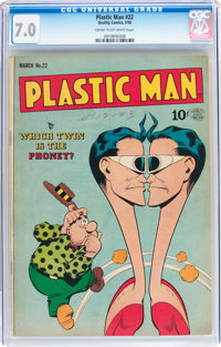 Plastic Man #22 (Quality, 1950) CGC FN/VF 7.0 Cream to off-white pages