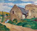 Paintings, LOUIS VALTAT (French, 1869-1952). La Tour en Normandie, 1909. Oil on canvas. 25-3/4 x 32 inches (65.4 x 81.3 cm). Stampe...