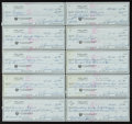 Golf Collectibles:Autographs, 1970's Sam Snead Signed Checks Lot of 10. ...