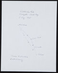 "Miscellaneous Collectibles:General, Dutch Van Kirk ""Tinian to Hiroshima"" Signed Route Drawing...."