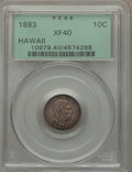 Coins of Hawaii: , 1883 10C Hawaii Ten Cents XF40 PCGS. PCGS Population (78/425). NGCCensus: (42/296). Mintage: 250,000. ...