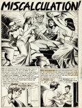 """Original Comic Art:Complete Story, Jack Kamen Weird Science #15 """"Miscalculation!"""" Complete 6 Page Story Original Art (EC, 1952).... (Total: 6 Original Art)"""