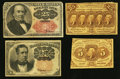 Fractional Currency:First Issue, A Selection of Four Fractional Notes. . ... (Total: 4 notes)