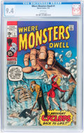 Bronze Age (1970-1979):Horror, Where Monsters Dwell #1 (Marvel, 1970) CGC NM 9.4 White pages....