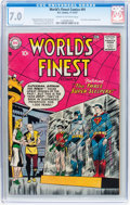 Silver Age (1956-1969):Superhero, World's Finest Comics #91 (DC, 1957) CGC FN/VF 7.0 Cream to off-white pages....