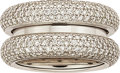 Estate Jewelry:Rings, Diamond, White Gold Ring, Poiray. ...