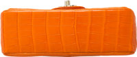 24c884579b01 Luxury Accessories:Bags, Chanel Matte Orange Crocodile Small Single Flap  Bag with GoldHardware.