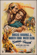 "Movie Posters:Adventure, Sinbad the Sailor (RKO, 1946). One Sheet (27.25"" X 41"").Adventure.. ..."