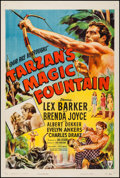 "Movie Posters:Adventure, Tarzan's Magic Fountain (RKO, 1949). One Sheet (27"" X 41""). Adventure.. ..."