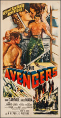 "Movie Posters:Adventure, The Avengers (Republic, 1949). Three Sheet (41.25"" X 80"").Adventure.. ..."