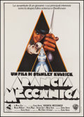 "Movie Posters:Science Fiction, A Clockwork Orange (Warner Brothers, 1972). Italian 2 - Foglio(39.5"" X 55""). Science Fiction.. ..."