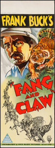 "Movie Posters:Adventure, Fang and Claw (RKO, 1935). Australian Pre-War Daybill (14.75"" X 39.75""). Adventure.. ..."