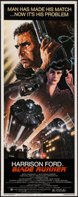 "Blade Runner (Warner Brothers, 1982). Insert (14"" X 36""). Science Fiction"