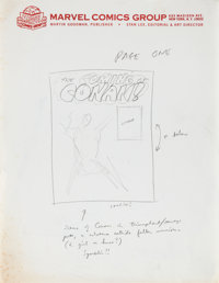 Conan the Barbarian #1 Original Script Synopsis and Page One Layout Sketch by Roy Thomas (Marvel, 1969).... (Total: 2 It...