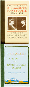 Books:Biography & Memoir, D.H. Lawrence. Two Editions of Letters Published by the BlackSparrow Press. Various dates. First editions. One is a deluxe ...(Total: 2 Items)