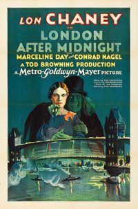 "London After Midnight (MGM, 1927). One Sheet (27"" X 41"")"