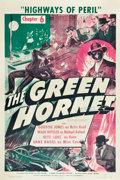 "Movie Posters:Serial, The Green Hornet (Universal, 1940). One Sheet (27.25"" X 41"")Chapter 6 -- ""Highways of Peril."". ..."