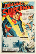 "Movie Posters:Serial, Atom Man vs. Superman (Columbia, 1950). One Sheet (27.5"" X 41"")Chapter 13 -- ""Atom Man's Flying Saucer."". ..."