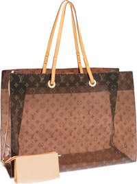 Louis Vuitton Limited Edition Classic Monogram Vinyl Ambre Cruise Cabas Tote Bag Excellent Condition