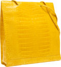 "Luxury Accessories:Bags, Fendi Shiny Yellow Crocodile Tote Bag. Very Good Condition.13.5"" Width x 15.5"" Height x 3.5"" Depth. CITEScompl..."