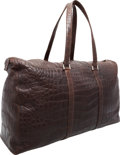 "Luxury Accessories:Travel/Trunks, Fendi Brown Crocodile Travel Bag. Excellent Condition.23"" Width x 14"" Height x 8"" Depth. CITES complianceappli..."