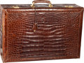 "Luxury Accessories:Travel/Trunks, Fendi Brown Crocodile Travel Trunk. Excellent Condition.30"" Width x 21"" Height x 10"" Depth. CITES complianceap..."
