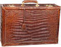 "Luxury Accessories:Travel/Trunks, Fendi Brown Crocodile Travel Trunk. Very Good Condition.24"" Width x 16.5"" Height x 8.5"" Depth. CITEScompliance..."