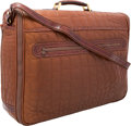 """Luxury Accessories:Travel/Trunks, Brioni Brown Leather & Crocodile Travel Bag . Excellent Condition. 21"""" Width x 16"""" Height x 6"""" Depth. CITES comp..."""