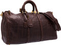 """Luxury Accessories:Bags, Harrison James Brown Crocodile Travel Bag. Very GoodCondition. 19"""" Width x 11"""" Height x 8.5"""" Depth. CITEScompl..."""