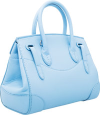 c3639b58b35cc Ralph Lauren Light Blue Leather Small Ricky Bag with