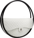 "Luxury Accessories:Bags, Chanel White Quilted Lambskin Leather Full-Size Hula Hoop Bag.Very Good to Excellent Condition. 30"" Width x 30""Heigh..."