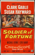"Movie Posters:Adventure, Soldier of Fortune (20th Century Fox, 1955). Trimmed One Sheet(25.5"" X 41""). Adventure.. ..."
