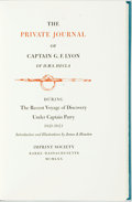 Books:Biography & Memoir, [G.F. Lyon] The Private Journal of Captain G.F.Lyon...Barre: Imprint Society, 1970. Edition limited to 1,950number...