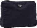 "Luxury Accessories:Bags, Prada Navy Tessuto Toiletry Travel Bag . Excellent Condition. 12"" Width x 8"" Height x 3"" Depth . ..."