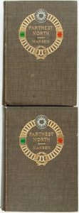 Books:Travels & Voyages, Fridtjof Nansen. Farthest North. New York: Harpers, 1897. First edition. Two volumes. Original cloth binding. Front ... (Total: 2 Items)