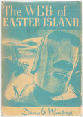 Books:Science Fiction & Fantasy, Donald Wandrei. The Web of Easter Island. Sauk City: Arkham House, 1948. First edition. Publisher's cloth and origin...