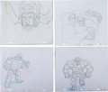 Animation Art:Production Drawing, Fantastic Four: The Animated Series Production DrawingAnimation Art Group (Saban/Marvel, 1994-96).... (Total: 4 Items)