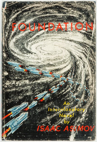 Isaac Asimov. Foundation. New York: Gnome Press, [1951]. First edition. Second state binding (w