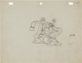 Animation Art:Production Drawing, Dizzy Divers Popeye and Olive Oyl Production Drawing Animation Art (Max Fleischer, 1935)....