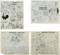 animation art:Model Sheet, Farmyard Symphony Model Sheet Group (Disney, 1938)....(Total: 4 Items)
