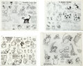 animation art:Model Sheet, Donald Duck Model Sheet Group (Disney, 1930s).... (Total: 5Items)