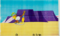 Animation Art:Production Drawing, Donald Duck Production Cel Animation Art (Disney, 1980s)....
