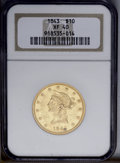 Liberty Eagles: , 1843 $10 XF40 NGC. NGC Census: (13/85). PCGS Population (20/41).Mintage: 75,462. Numismedia Wsl. Price: $471.(#8588)...