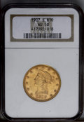 Liberty Eagles: , 1907-S $10 AU58 NGC. NGC Census: (81/139). PCGS Population (33/77).Mintage: 210,500. Numismedia Wsl. Price: $308.(#8765)...