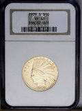 Indian Eagles: , 1909-S $10 XF45 NGC. NGC Census: (14/324). PCGS Population(19/339). Mintage: 292,350. Numismedia Wsl. Price: $417.(#8864)...