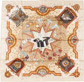 "Luxury Accessories:Accessories, Hermes 90cm Beige ""La Magie des Mains,"" by Jeremiah Jacob KuanySilk Scarf. Pristine Condition. 36"" Width x 36""Length..."